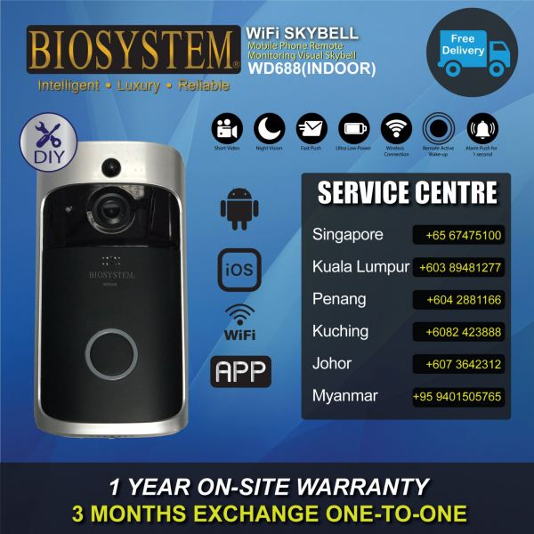 WD688 WIFI Skybell Home / Office Security Malaysia, Selangor, Johor, Penang, Sarawak Supplier, Supply, Manufacturer   Biosystem Europe Technology (M) Sdn Bhd