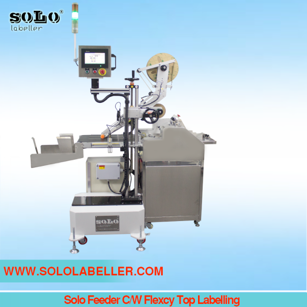 Solo Feeder C/W Flexcy Top Labelling Customized Labelling Selangor, Malaysia, Kuala Lumpur (KL), Puchong Machine, Manufacturer, Supplier, Supply | Solo Labelling Sdn Bhd