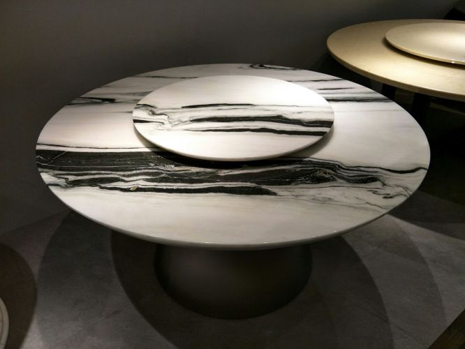 8 Seater Marble Dining Table - Panda White Marble