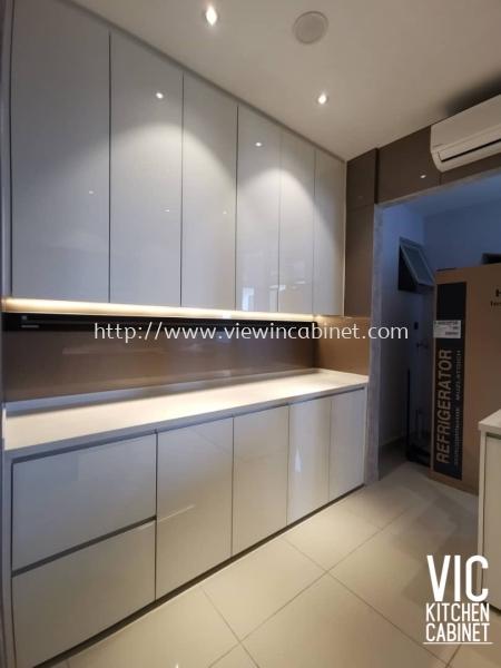 Villa crystal Kitchen Cabinet Kuala Lumpur (KL), Malaysia, Selangor, Bukit Jalil Supplier, Supply, Supplies, Design | View In Cabinet Design Sdn Bhd