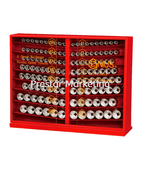 (GS-4131M) 131 PIECES HAND SOCKET (6 POINT) DISPLAY