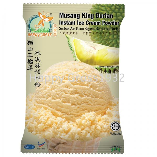 MUSANG KING DURIAN INSTANT ICE CREAM POWDER Beverages Johor Bahru (JB), Malaysia, Pontian Supplier, Suppliers, Supply, Supplies | Happy Grass Products Sdn Bhd