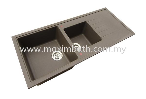 GKS 11650 (METALIC BROWN) HCE Granite Sink Puchong, Selangor, Kuala Lumpur (KL), Malaysia. Supplier, Suppliers, Supplies, Supply | Maxim Bath & Kitchen Gallery Sdn Bhd