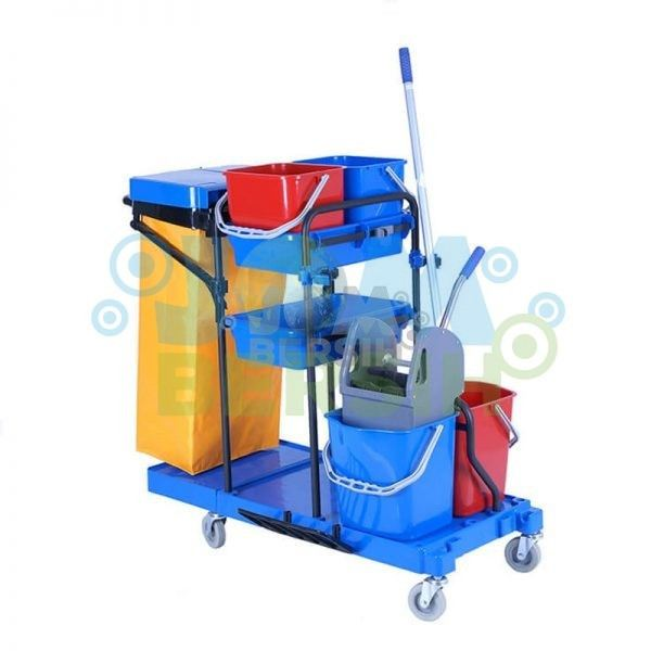 Double Bucket Janitor Cart c/w Double Bucket Mopping & Cleaning Accessories General Cleaning Equipment Cleaning Equipment Selangor, Klang, Malaysia, Kuala Lumpur (KL) Supplier, Suppliers, Supply, Supplies | HH Plastech Industries Sdn Bhd