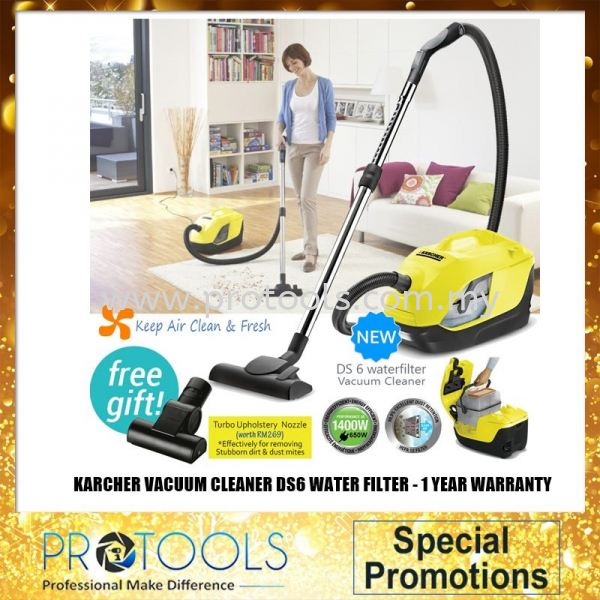 Karcher Water Filter Vacuum Cleaner DS6 FOC POWER NOZZLE CORDED / BARREL VACUUM VACUUM CLEANER HOUSEHOLD CLEANING Johor Bahru (JB), Malaysia, Senai Supplier, Suppliers, Supply, Supplies   Protools Hardware Sdn Bhd