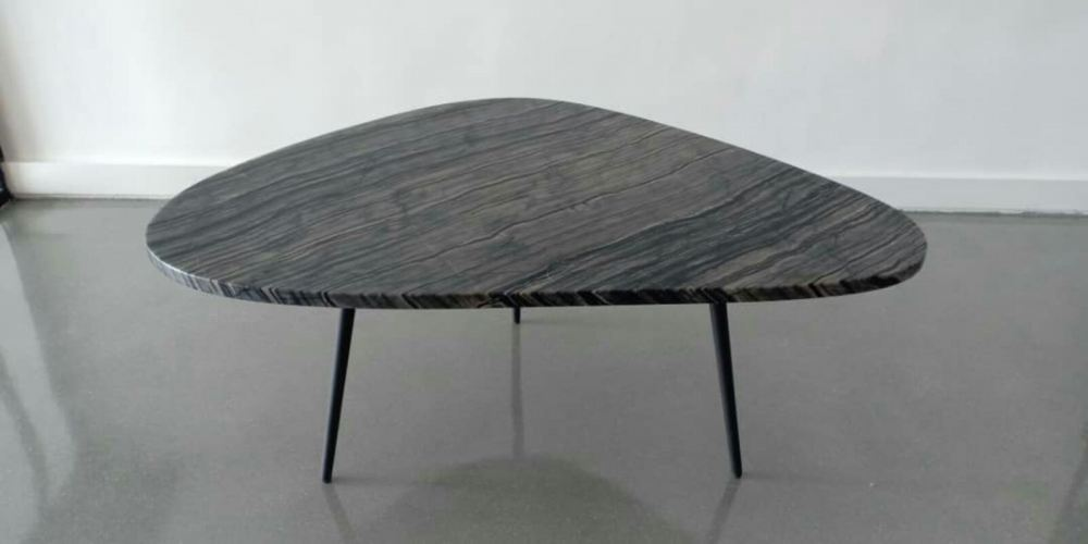 Leaf Shape Marble Coffee Table