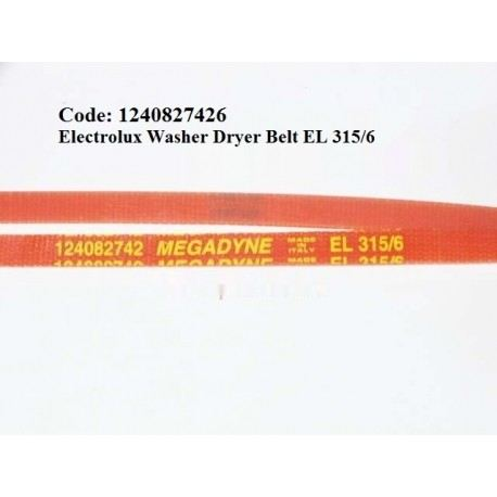 Code: 1240827426 Electrolux Washer Dryer Belt Dryer Belt Tumble Dryer Parts Melaka, Malaysia Supplier, Wholesaler, Supply, Supplies | Adison Component Sdn Bhd