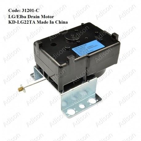 Code: 31201-C Drain Motor KD-LG22TA for LG/Elba (China) Drain Motor / Gear Motor Washing Machine Parts Melaka, Malaysia Supplier, Wholesaler, Supply, Supplies | Adison Component Sdn Bhd