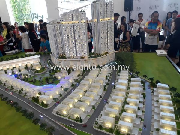 Hill Park Sunrise Manner Building Model Layout Malaysia, Penang Building, Model, Maker, Services   Eight A Model Sdn Bhd