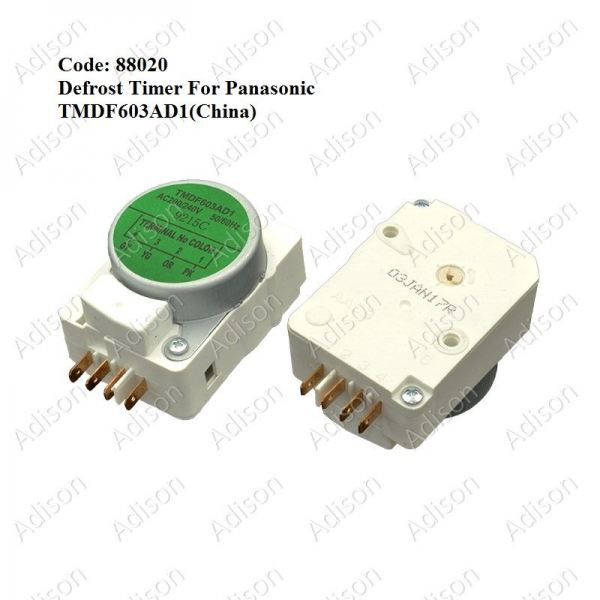 Code: 88020 TMDF603AD1 Defrost Timer (China) Defrost Timer Refrigerator Parts Melaka, Malaysia Supplier, Wholesaler, Supply, Supplies   Adison Component Sdn Bhd