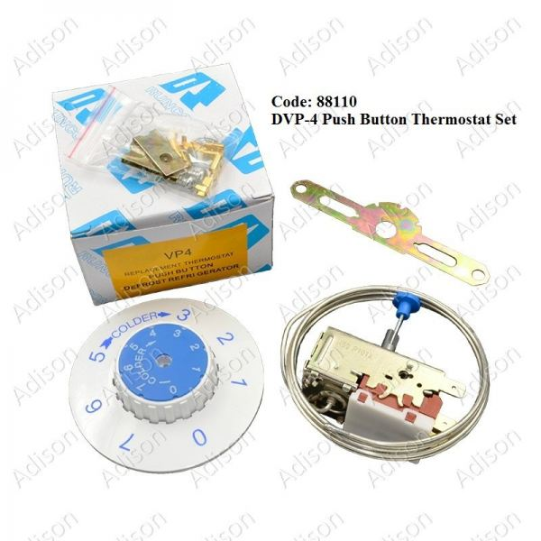 Code: 88110 DVP-4 Push Button Thermostat Set Defrost Thermostat Refrigerator Parts Melaka, Malaysia Supplier, Wholesaler, Supply, Supplies | Adison Component Sdn Bhd