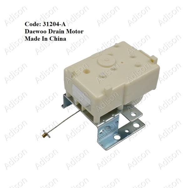 Code: 31204-A Daewoo Drain Motor (China) Drain Motor / Gear Motor Washing Machine Parts Melaka, Malaysia Supplier, Wholesaler, Supply, Supplies | Adison Component Sdn Bhd