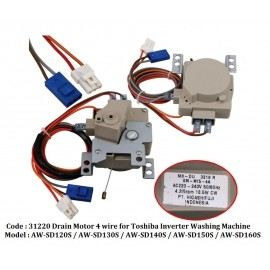 Code: 31220 Toshiba Inverter Drain Motor 4 Wire Drain Motor / Gear Motor Washing Machine Parts Melaka, Malaysia Supplier, Wholesaler, Supply, Supplies | Adison Component Sdn Bhd