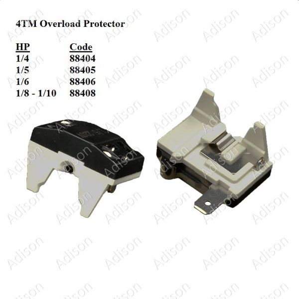 Code: 88408 Overload Protector 4TM 1/8HP-1/10HP Overload / Relay Refrigerator Parts Melaka, Malaysia Supplier, Wholesaler, Supply, Supplies | Adison Component Sdn Bhd