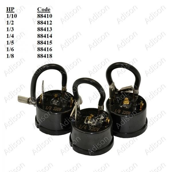 Code: 88418 Overload Protector 1/8HP Round Type Overload / Relay Refrigerator Parts Melaka, Malaysia Supplier, Wholesaler, Supply, Supplies | Adison Component Sdn Bhd