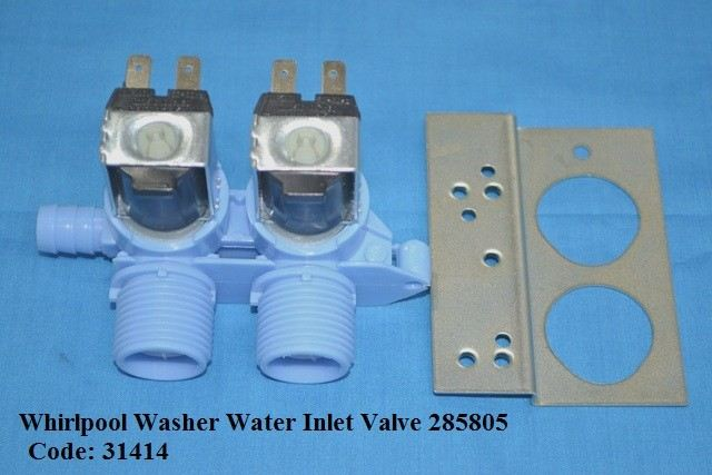 Code: 31414 Whirlpool Double Water Valve 230V Water Valve / Inlet Valve Washing Machine Parts Melaka, Malaysia Supplier, Wholesaler, Supply, Supplies | Adison Component Sdn Bhd
