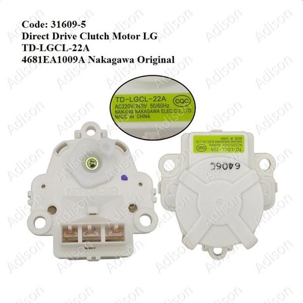 Code: 31609-5 Direct Drive Clutch Motor Magnet Valve / Gear Motor Washing Machine Parts Melaka, Malaysia Supplier, Wholesaler, Supply, Supplies | Adison Component Sdn Bhd