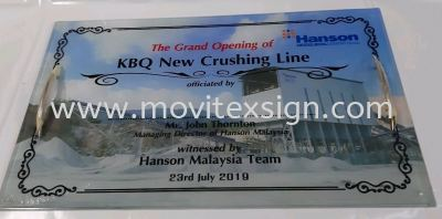 Plaque Sign for opening ceremony & launching new factory