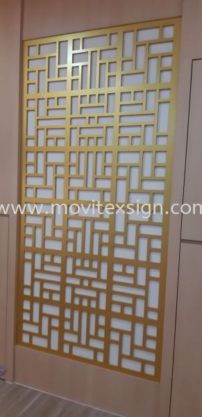 Office Divider Decoration cut by rounter or laser  Door  sign / table sign / glass door sign Interior Sign and Building Directory Johor Bahru (JB), Johor, Malaysia. Design, Supplier, Manufacturers, Suppliers   M-Movitexsign Advertising Art & Print Sdn Bhd