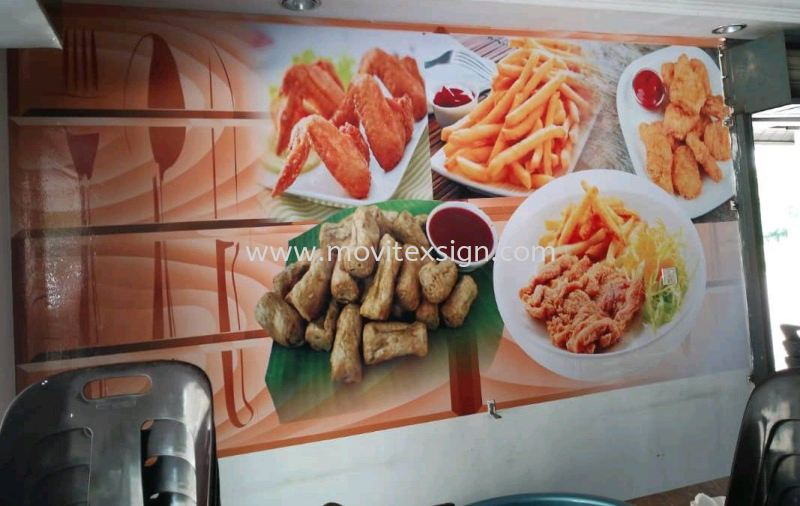 restoran wallstick posters for food n drinks advertising  3D Wall stickers /wallpaper or Digital graphics Uv print vinyl Johor Bahru (JB), Johor, Malaysia. Design, Supplier, Manufacturers, Suppliers | M-Movitexsign Advertising Art & Print Sdn Bhd