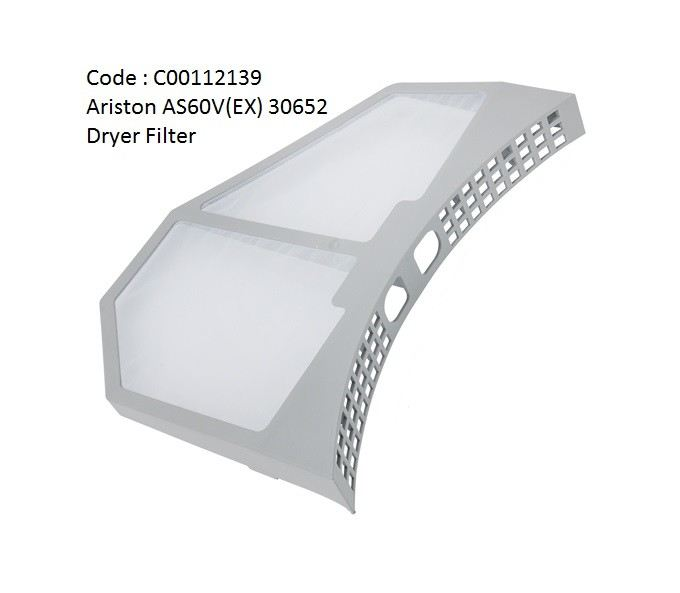 Code: C00112139 Dryer Filter for Ariston Dryer AS60V Dryer Accessories Tumble Dryer Parts Melaka, Malaysia Supplier, Wholesaler, Supply, Supplies | Adison Component Sdn Bhd