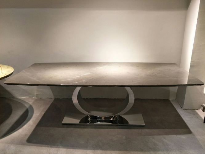 10 Seater Marble Dining Table - Pietra Grey Marble