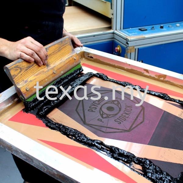 Silk Screen Printing Our Services Kuala Lumpur (KL), Malaysia, Selangor, Sri Petaling Service | Texas Print