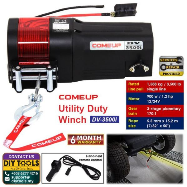 COMEUP Utility Duty Winch DV-3500i Utility Duty Winch Winches Material Handling Kuala Lumpur (KL), Malaysia, Selangor, Kepong Supplier, Suppliers, Supply, Supplies | HHM Machinery & Instruments Sdn Bhd