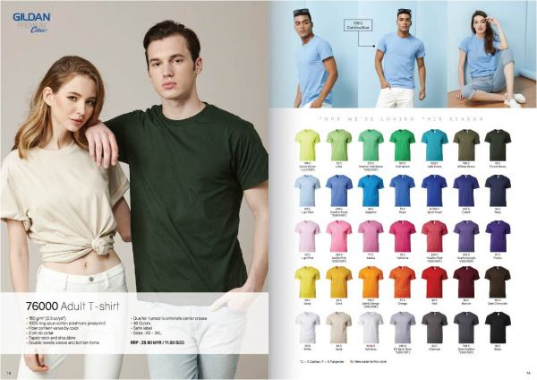 TP-76000 GILDEN COTTON TEE BUYER'S GUIDE Penang, Malaysia, Bayan Lepas Supplier, Suppliers, Supply, Supplies   Coral Gift Sdn Bhd