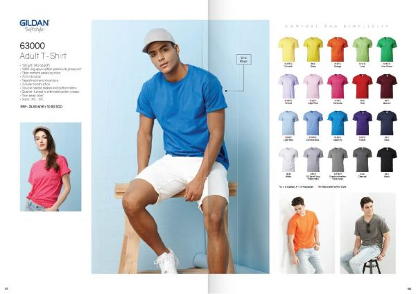 TP-63000 GILDEN COTTON TEE BUYER'S GUIDE Penang, Malaysia, Bayan Lepas Supplier, Suppliers, Supply, Supplies   Coral Gift Sdn Bhd