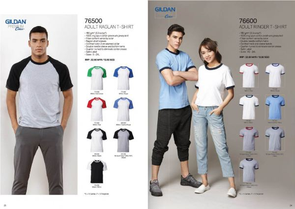 TP-76500;76600 GILDEN COTTON TEE BUYER'S GUIDE Penang, Malaysia, Bayan Lepas Supplier, Suppliers, Supply, Supplies | Coral Gift Sdn Bhd