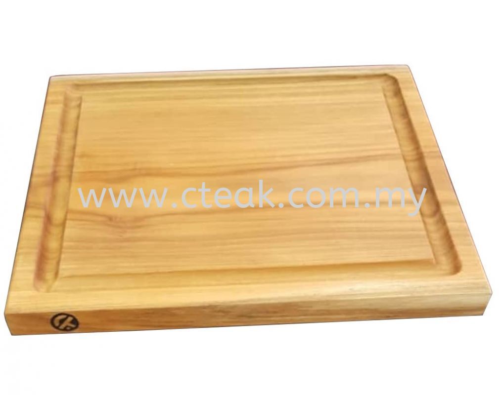 Chopping Board (Square in Single Piece of Wood)