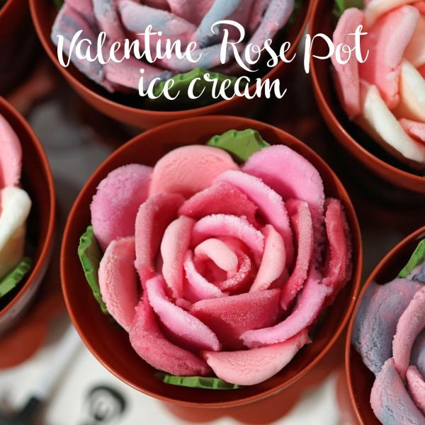 Valentine Rose Pot Ice Cream - Pink Lemonade Ice Cream (icedea) Selangor, Malaysia, Kuala Lumpur (KL), Batu Caves Supplier, Suppliers, Supply, Supplies | G DAILY SUPPLY SDN BHD