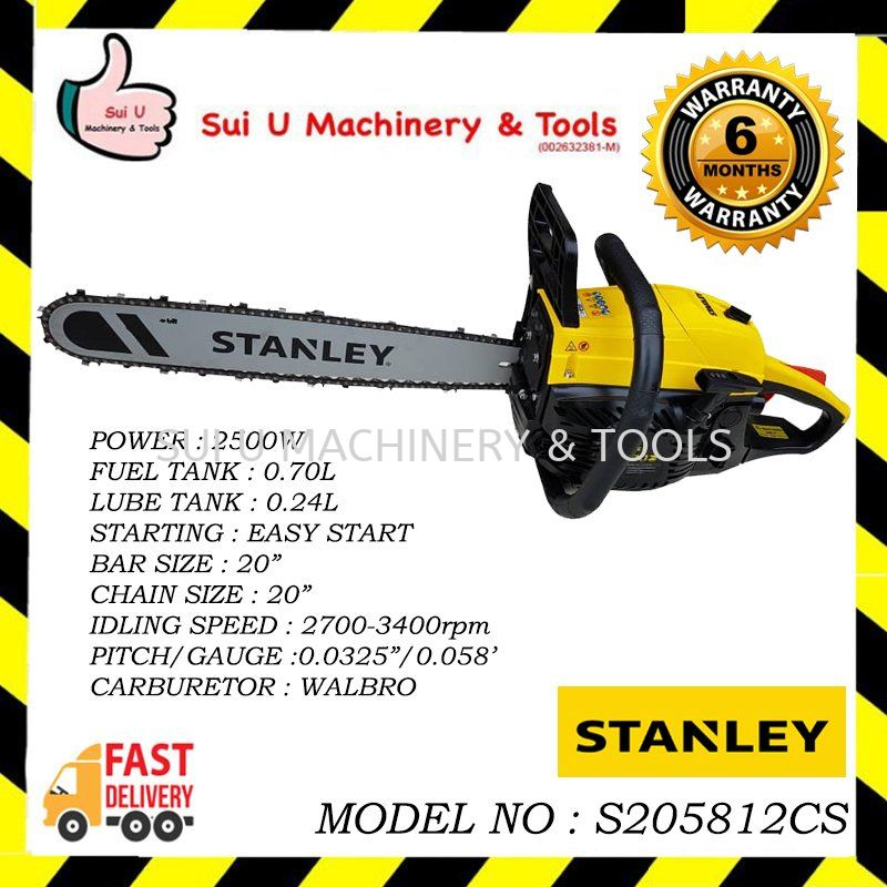 Stanley S205812CS Chain Saw 2500W 56.5CC