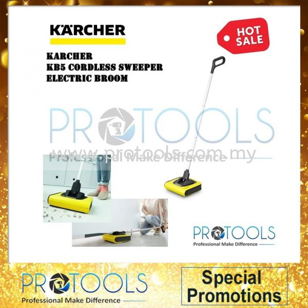 KARCHERR KB5 CORDLESS SWEEPER ELECTRIC BROOM- MADE IN GERMANY-1 year warranty Karcher Multipurpose Cleaner Johor Bahru (JB), Malaysia, Skudai Supplier, Suppliers, Supply, Supplies | Protools Hardware Sdn Bhd