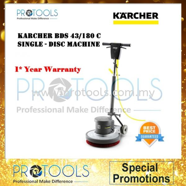 KARCHER BDS 43/180C SINGLE - DISC MACHINE - 1 YEAR WARRANTY MULTIPURPOSE CLEANER VACUUM CLEANER HOUSEHOLD CLEANING Johor Bahru (JB), Malaysia, Senai Supplier, Suppliers, Supply, Supplies | Protools Hardware Sdn Bhd