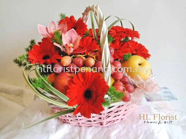 FFB006 Flower Fruits Basket Penang, Butterworth, Malaysia Supplier, Suppliers, Supply, Supplies | HL Florist & Gift