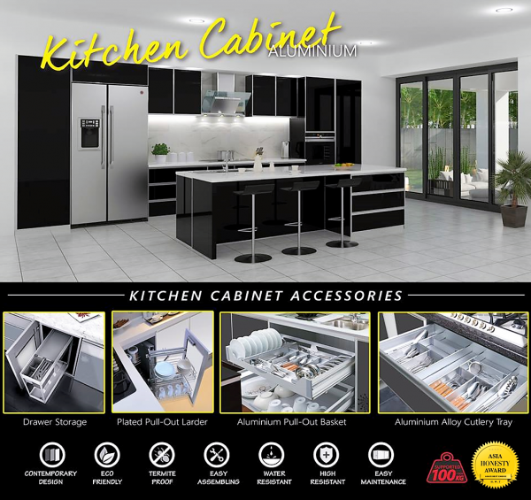 Full Aluminium Kitchen Cabinet Full Aluminium Kitchen Cabinet Seremban, Negeri Sembilan (NS), Malaysia. Supplier, Suppliers, Supply, Supplies | Poh Seng Kitchen & Bath Appliances