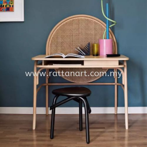 RATTAN STUDY TABLE MOON