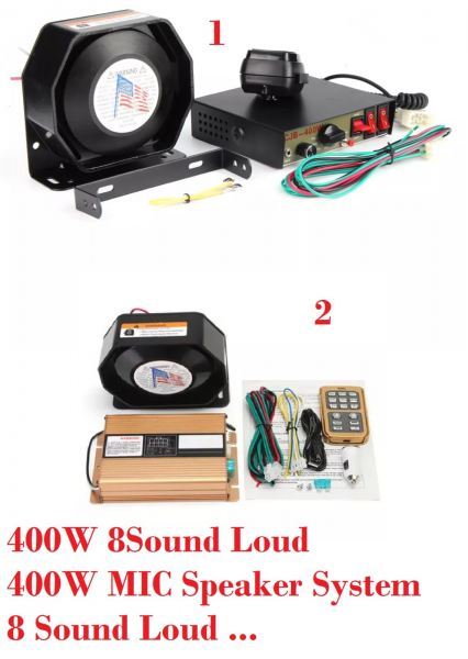 400W 8Sound Loud Car Warning Alarm Police Siren Horn PA Speaker  PA System for Siren Mic Specker  PERALATAN AMBULANS Kuala Lumpur (KL), Malaysia, Selangor Supplier, Suppliers, Supply, Supplies | Mobile Life Automobil Sdn Bhd