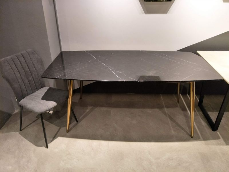 6 Seater - Modern Black Marble Dining Table Set With Chairs Marble Dining Table Clearance Item Selangor, Kuala Lumpur (KL), Malaysia Supplier, Suppliers, Supply, Supplies | DeCasa Marble Sdn Bhd