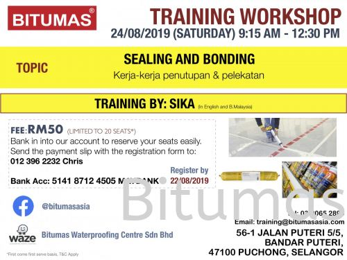 24/08/19 - TRAINING WORKSHOP BY BITUMAS
