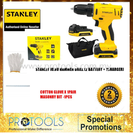 STANLEY SCH12S2 10.8V HAMMER DRILL DRIVER - DRILL BIT SET Stanley Drills & Drivers Johor Bahru (JB), Malaysia, Skudai Supplier, Suppliers, Supply, Supplies | Protools Hardware Sdn Bhd