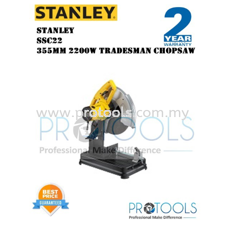STANLEY SSC22 2200W TRADESMAN CHOP SAW - 2 years warranty Stanley Power Saws Johor Bahru (JB), Malaysia, Skudai Supplier, Suppliers, Supply, Supplies | Protools Hardware Sdn Bhd