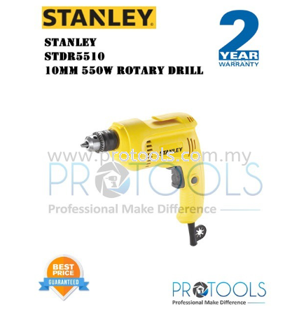 STANLEY STDR5510 10MM 550W ROTARY DRILL - 2 years warranty Stanley Drills & Drivers Johor Bahru (JB), Malaysia, Skudai Supplier, Suppliers, Supply, Supplies | Protools Hardware Sdn Bhd