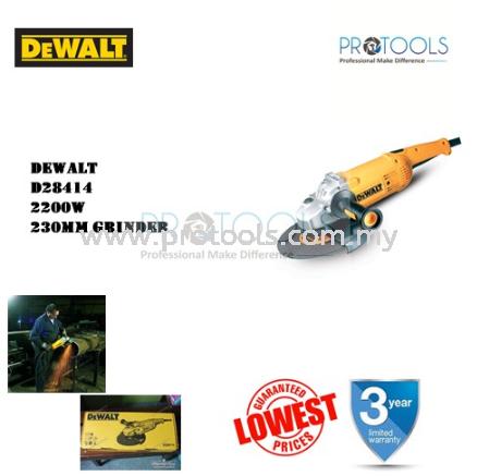 DEWALT D28414 230MM 2200W GRINDER GRINDING CORDED POWER TOOLS Johor Bahru (JB), Malaysia, Senai Supplier, Suppliers, Supply, Supplies | Protools Hardware Sdn Bhd