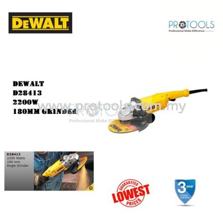 DEWALT D28413 180MM 2200W LAG GRINDING CORDED POWER TOOLS Johor Bahru (JB), Malaysia, Senai Supplier, Suppliers, Supply, Supplies | Protools Hardware Sdn Bhd