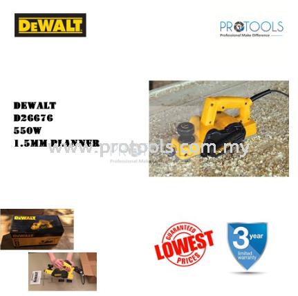 DEWALT D26676 1.5MM PORTABLE PLANER DeWalt Power Sanders Johor Bahru (JB), Malaysia, Skudai Supplier, Suppliers, Supply, Supplies | Protools Hardware Sdn Bhd