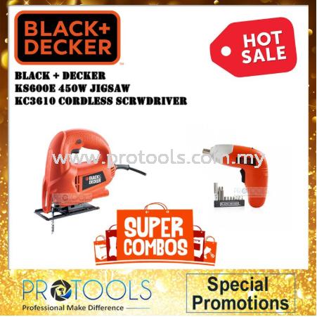 BLACK + DECKER KS600E JIGSAW + KC3610 CORDLESS SCREWDRIVER JIGSAW / JIG SAW CORDED POWER TOOLS Johor Bahru (JB), Malaysia, Senai Supplier, Suppliers, Supply, Supplies | Protools Hardware Sdn Bhd