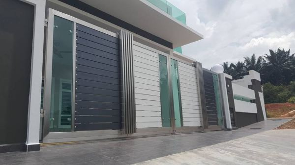 Folding Gate (M-Gate) Gate Melaka, Malaysia, Durian Tunggal Installation, Services, Supplier, Specialist | J & V Steel Engineering Works